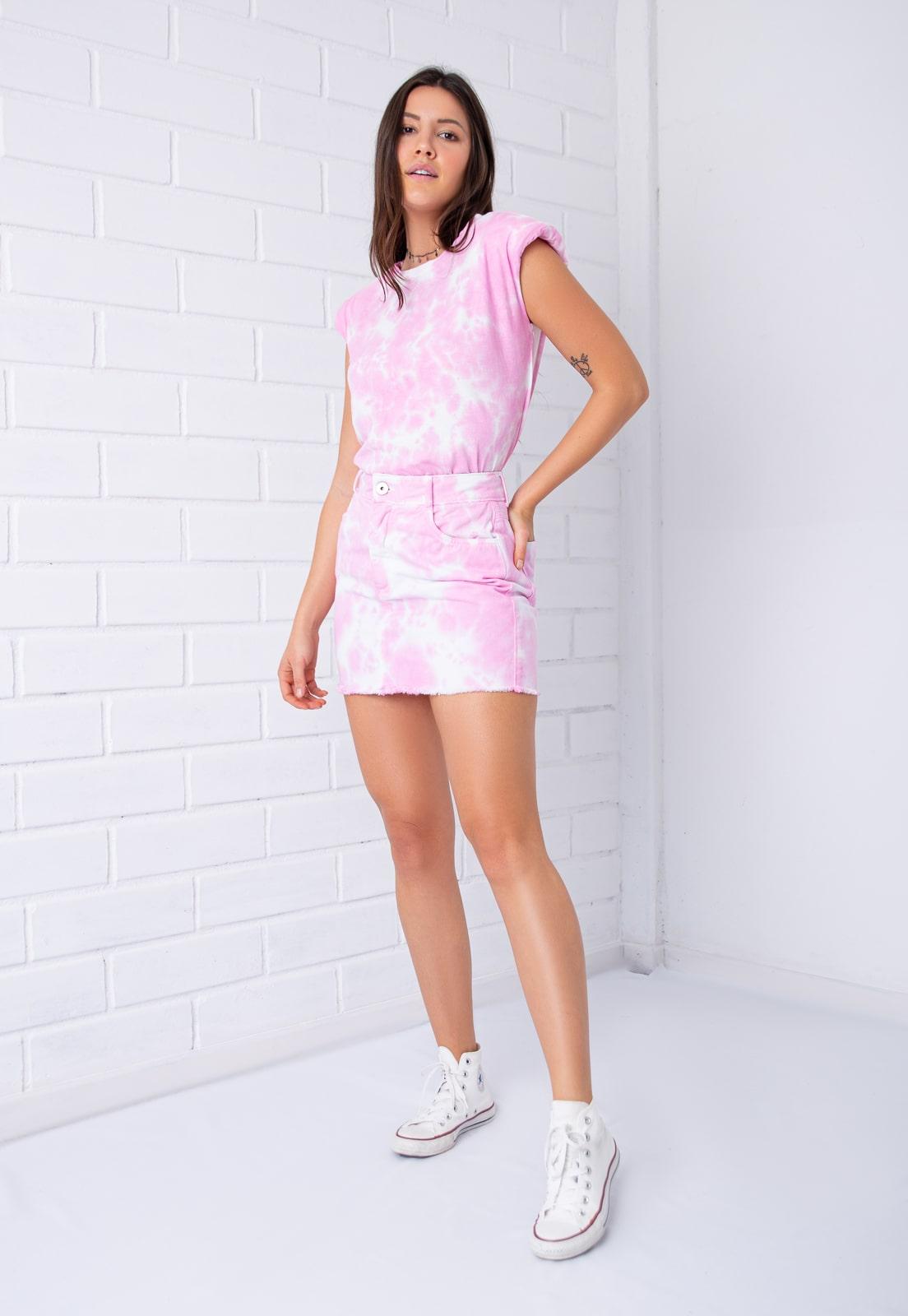 Blusa Regata Pkd  Muscle Tee Tie Dye Rosa