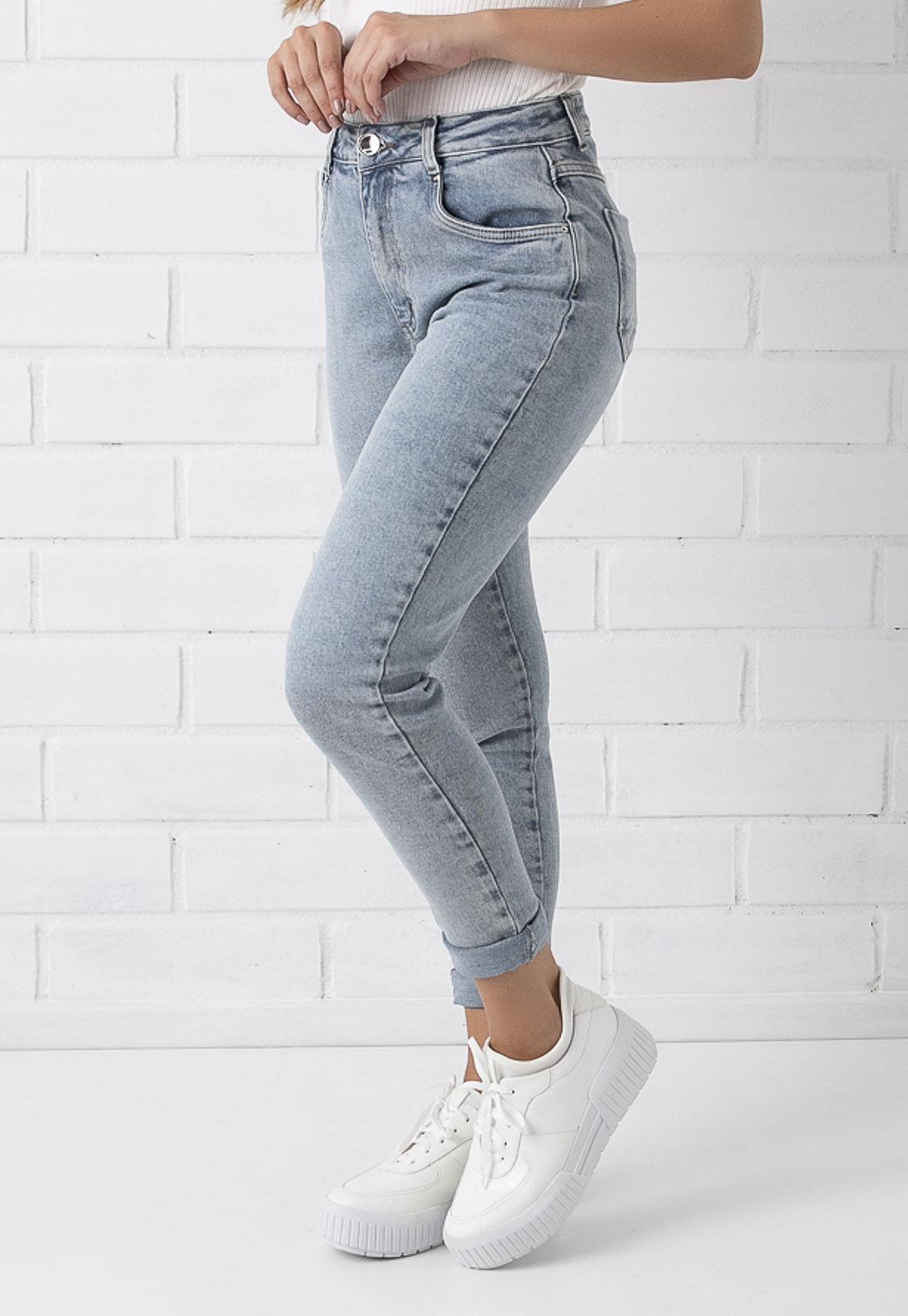 Calça Mom Jeans Clara Com Elastano Kim Pkd