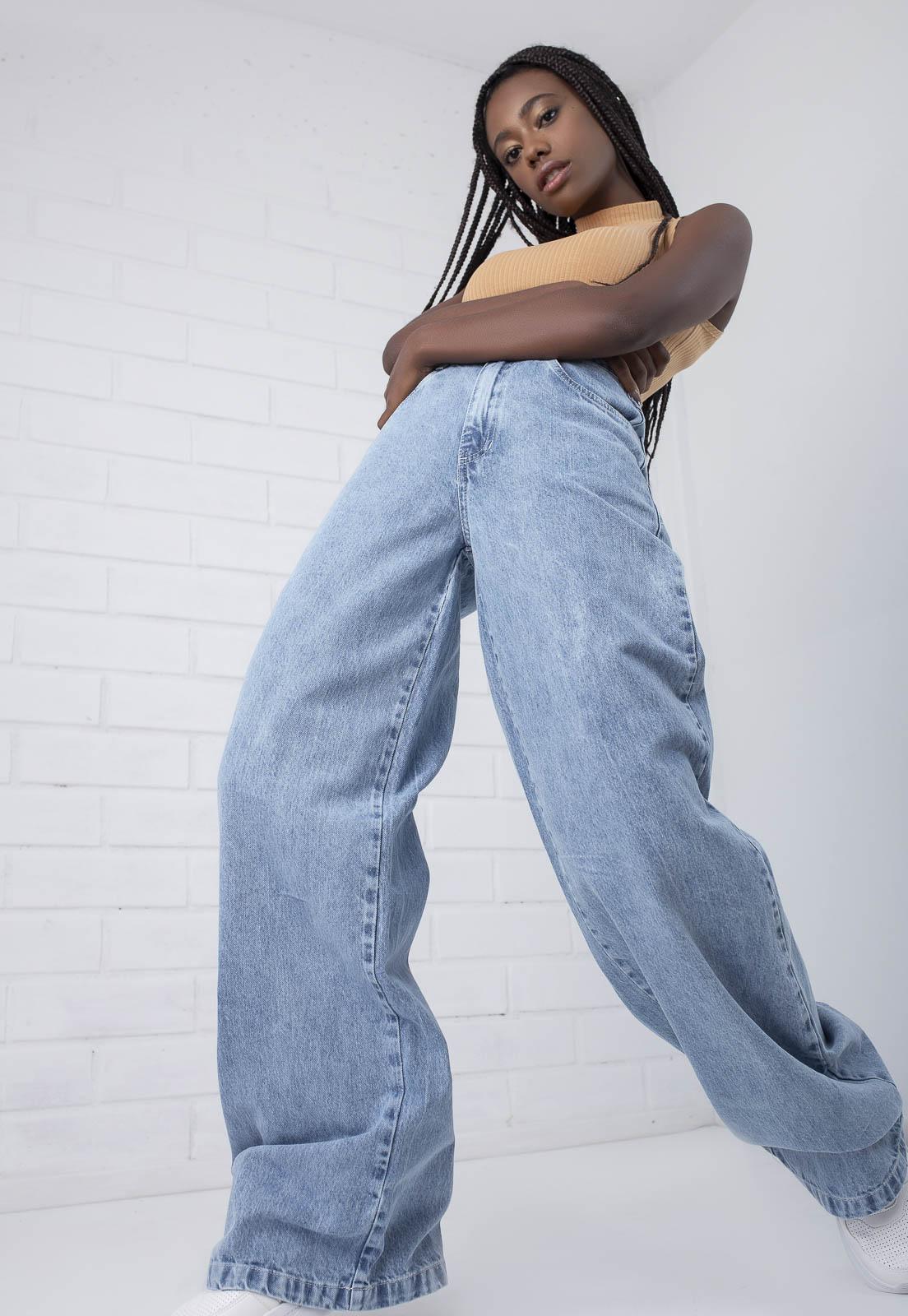 Calça Pantalona Jeans Kendall Pkd