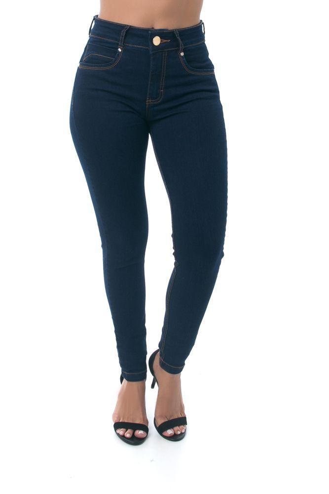 Calça Skinny Pkd Bolsos Embutidos Jeans