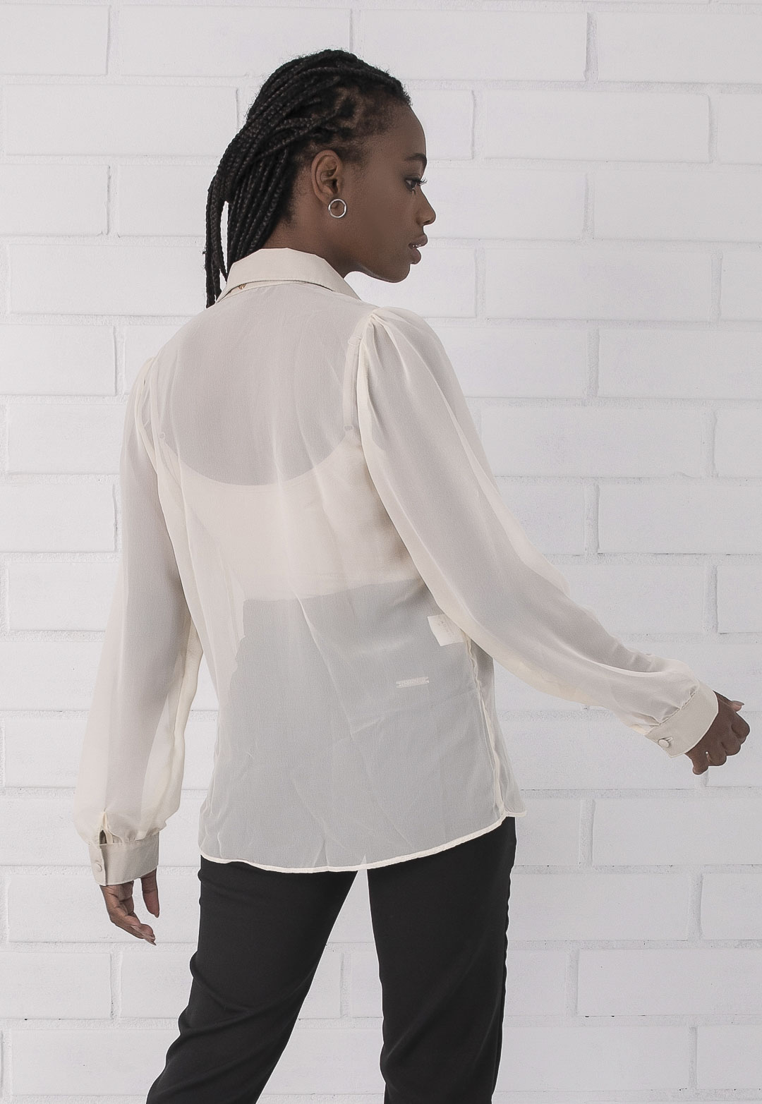 Camisa Pkd Transparente Creme