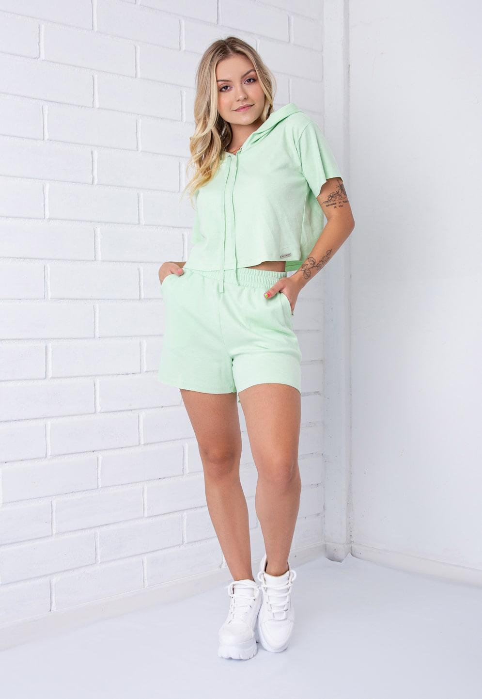 Conjunto Comfy Pkd Verde Maçã