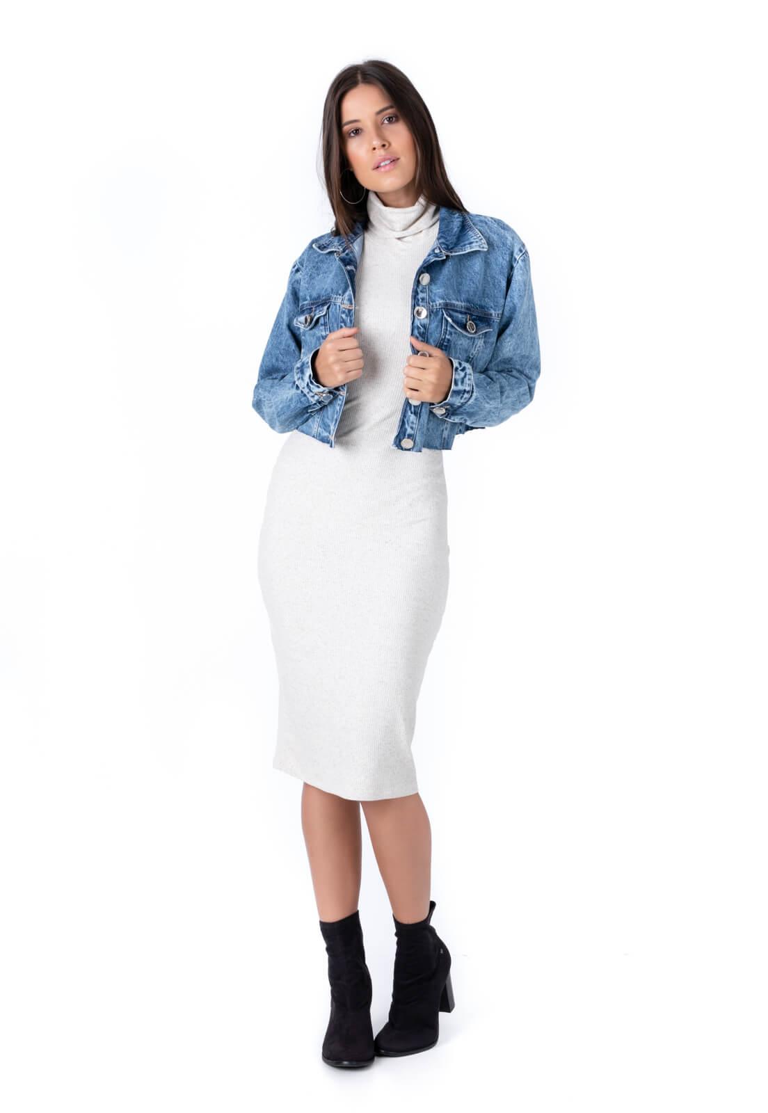 Jaqueta Jeans Cropped Katerine Pkd