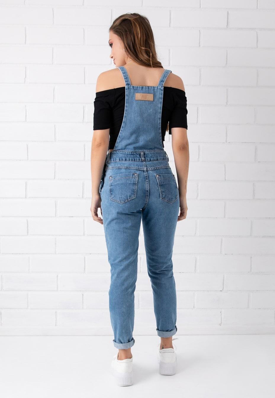 Jardineira Pkd Despojada Jeans