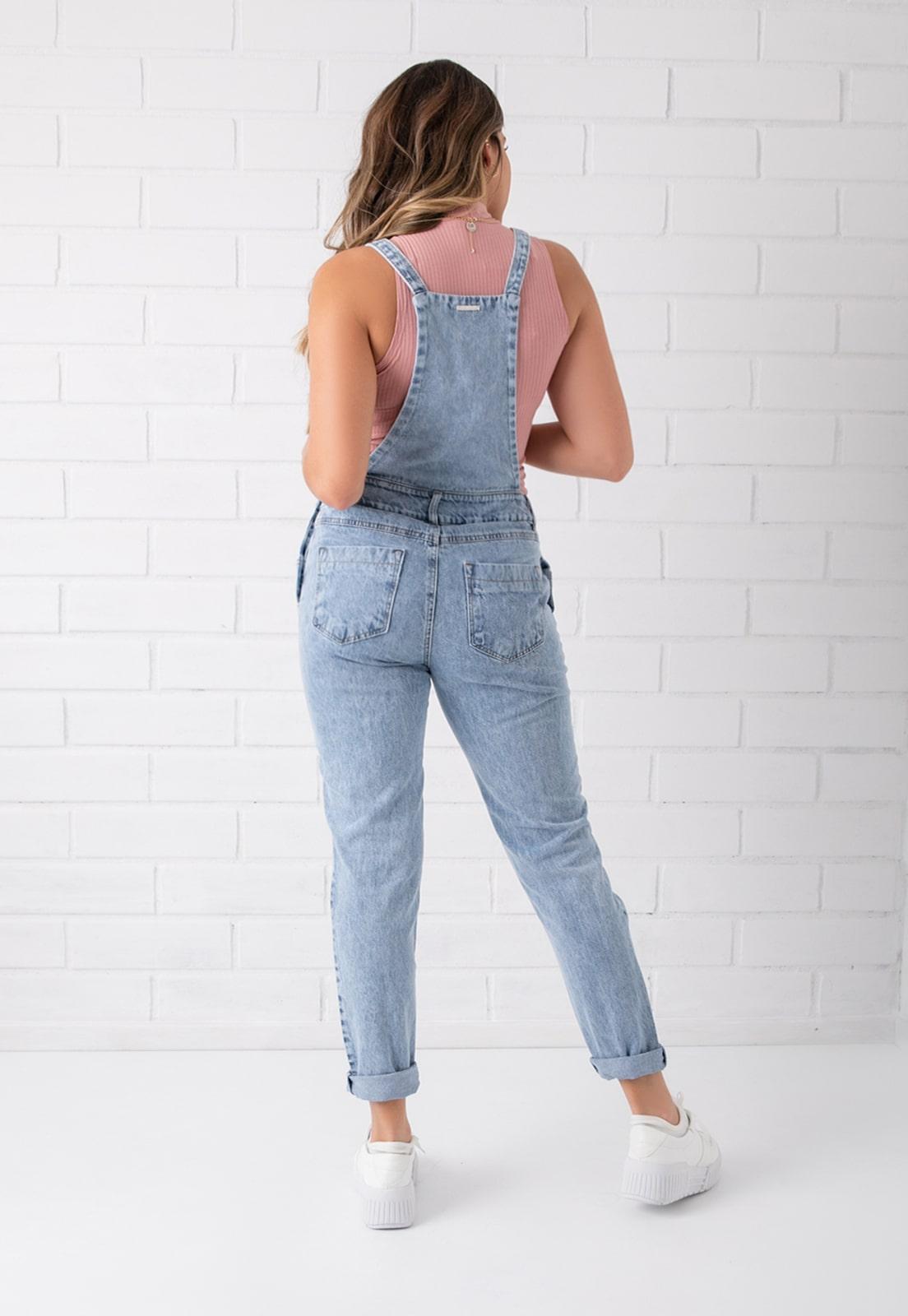 Jardineira Destroyed Jeans Pkd