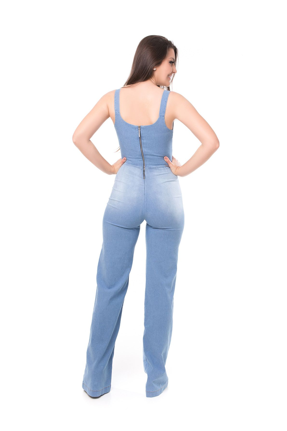 Macacão Pkd Com Nó Jeans