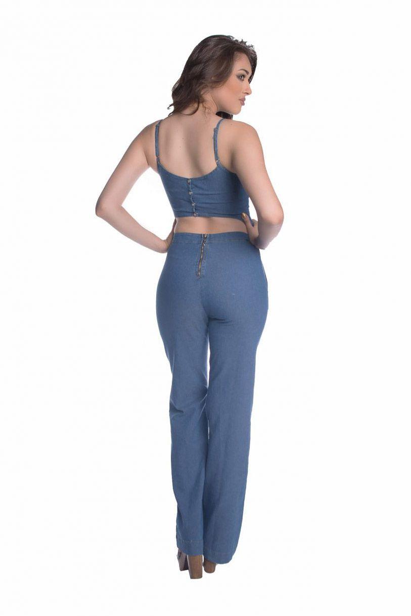 Macacão Pkd Jeans