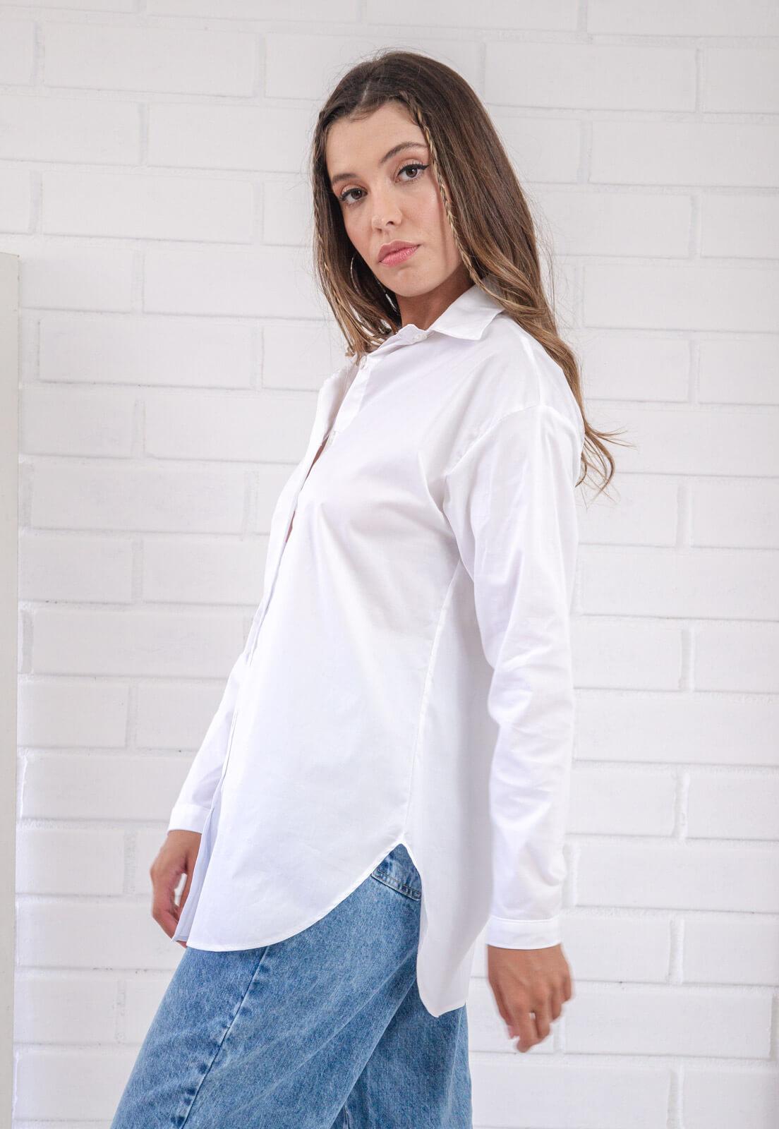 Maxi Camisa  Julieta Branca Pkd
