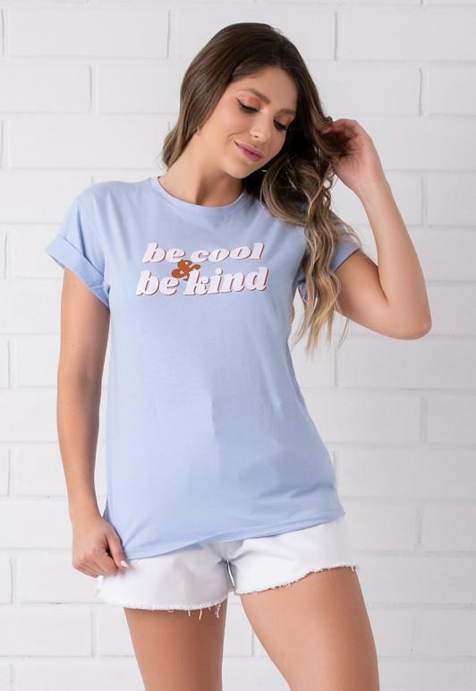 Maxi T-shirt Pkd Be Cool Be Kind Azul Céu