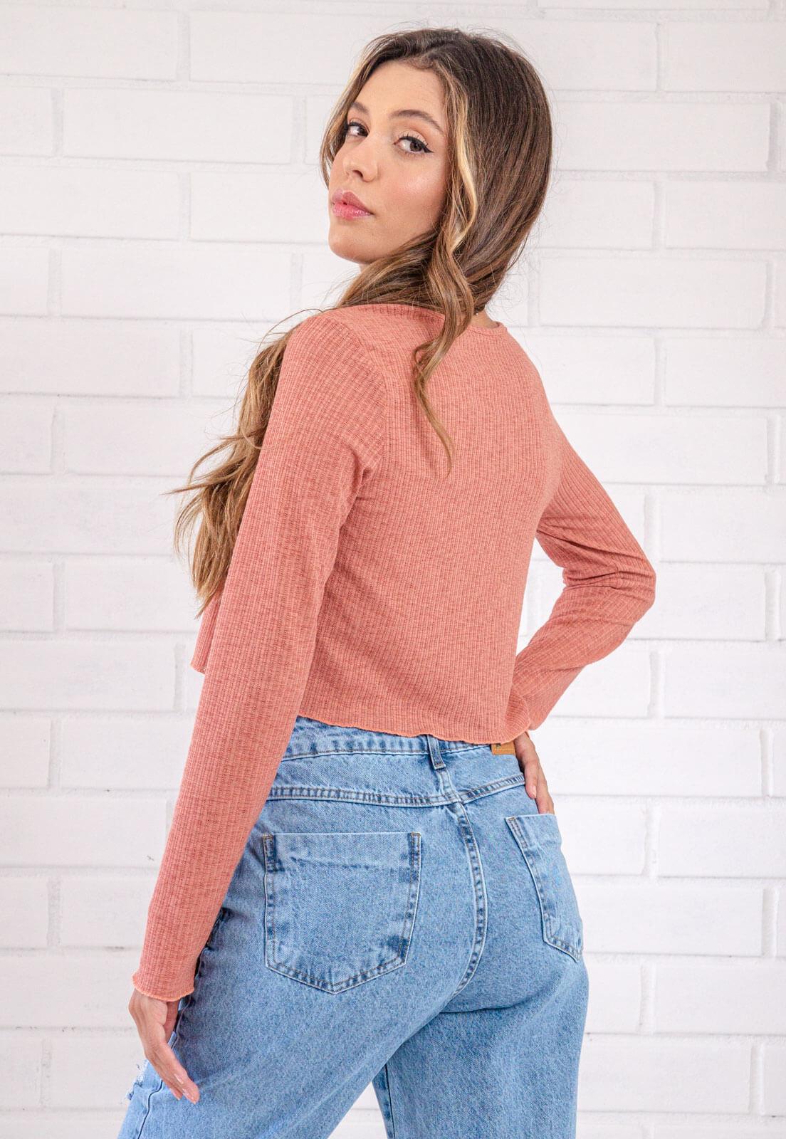 Mini Blusa Com Cardigan Tiffany Blush Pkd