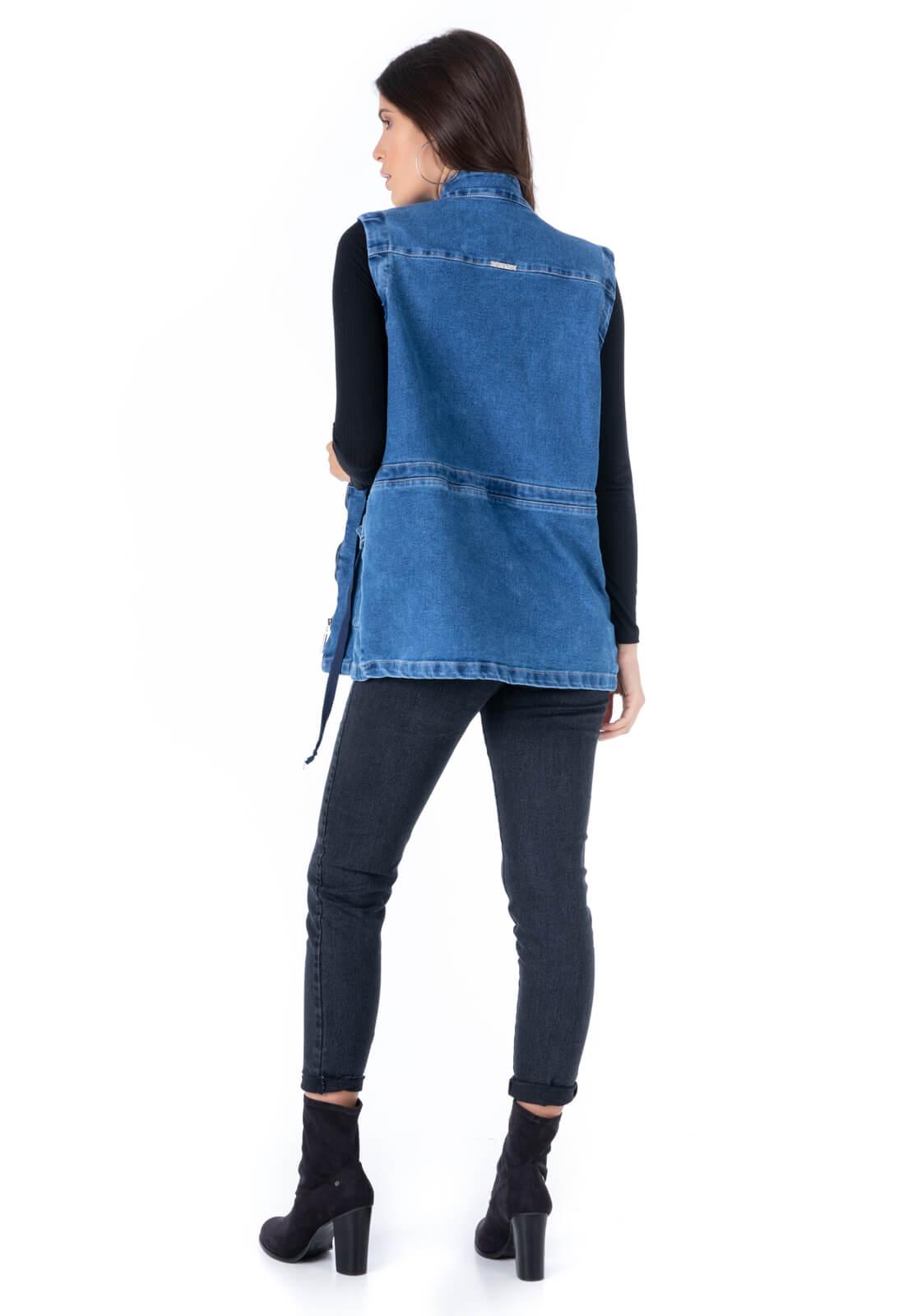 Parka Pkd Com Mangas Removíveis Jeans