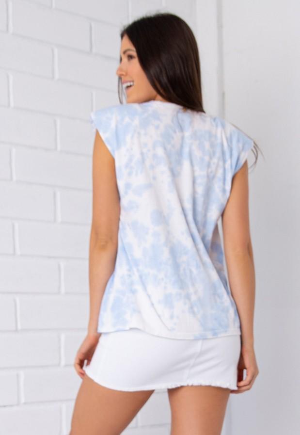 Regata Pkd  Muscle Tee Tie Dye Azul