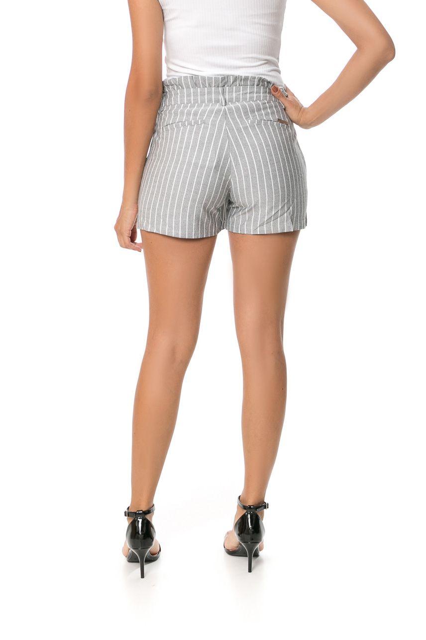 Shorts Pkd Clochard Listrado Cinza