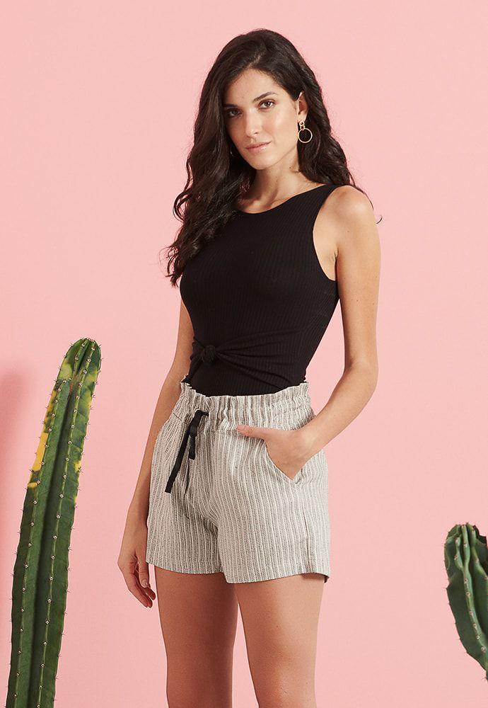 Shorts Pkd Com Ajuste Cintura