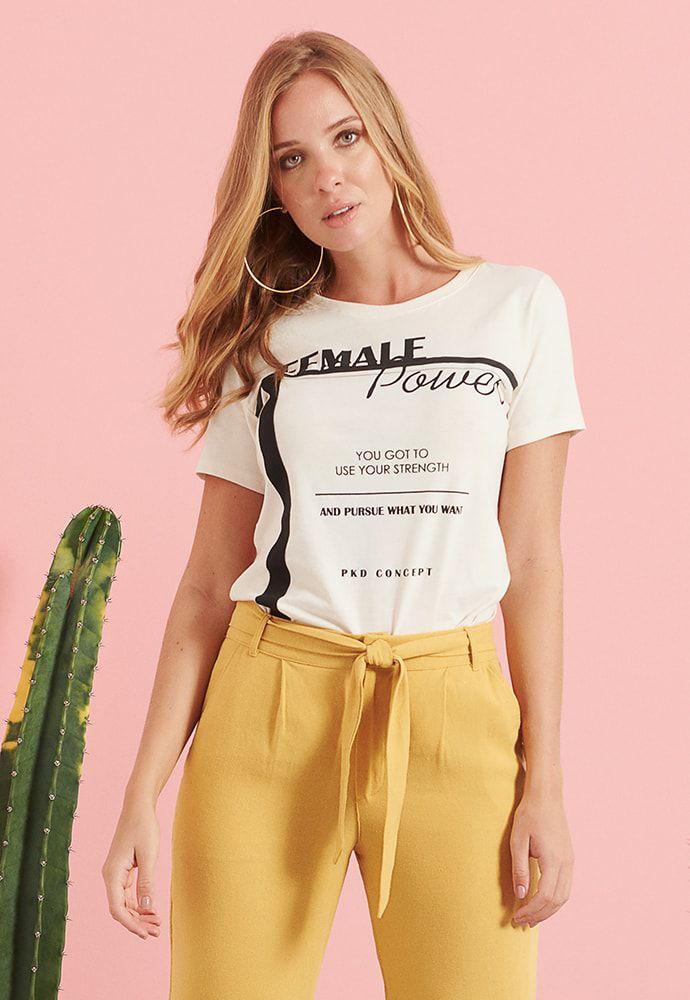 T-shirt Eco Pkd Female Power Off White