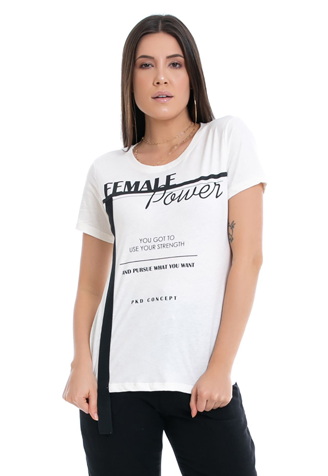 T-shirt Eco Pkd Female Power Off White