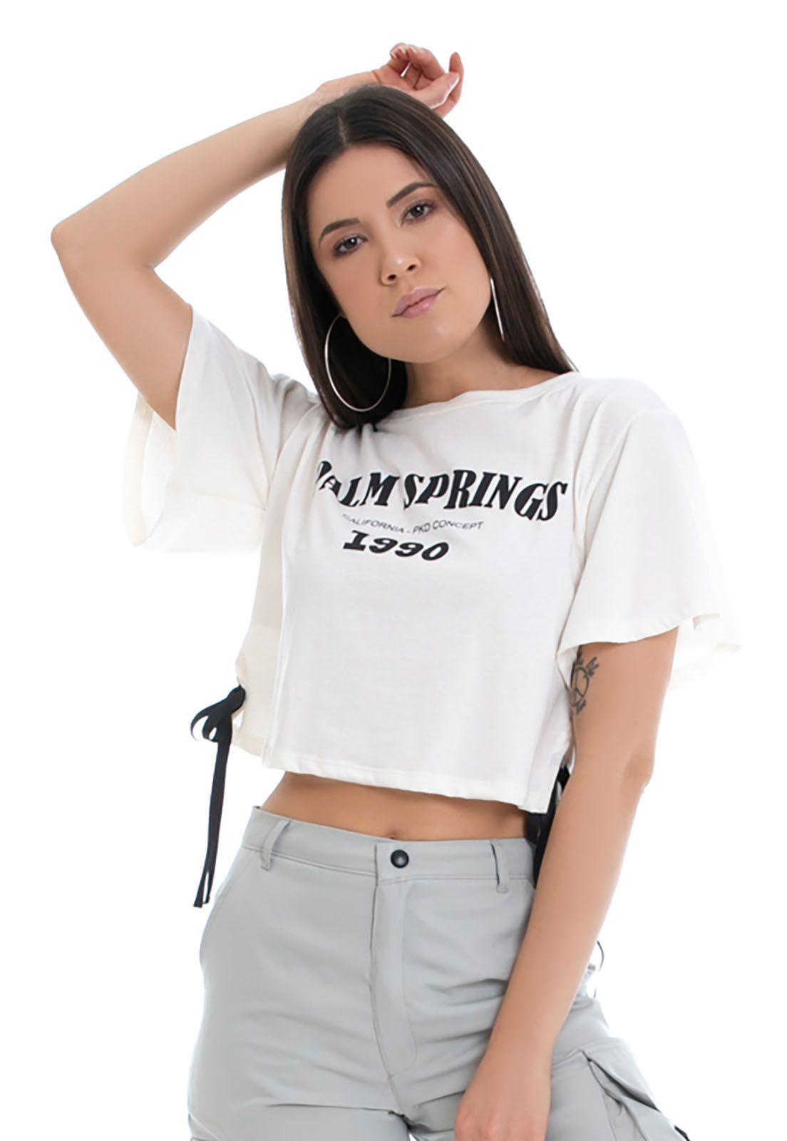T-shirt Eco Pkd Palm Springs Off White