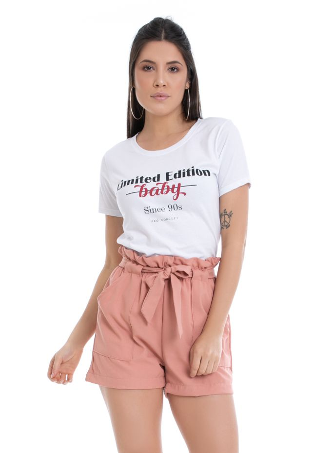 T-shirt Estampa Limited Edition Branca