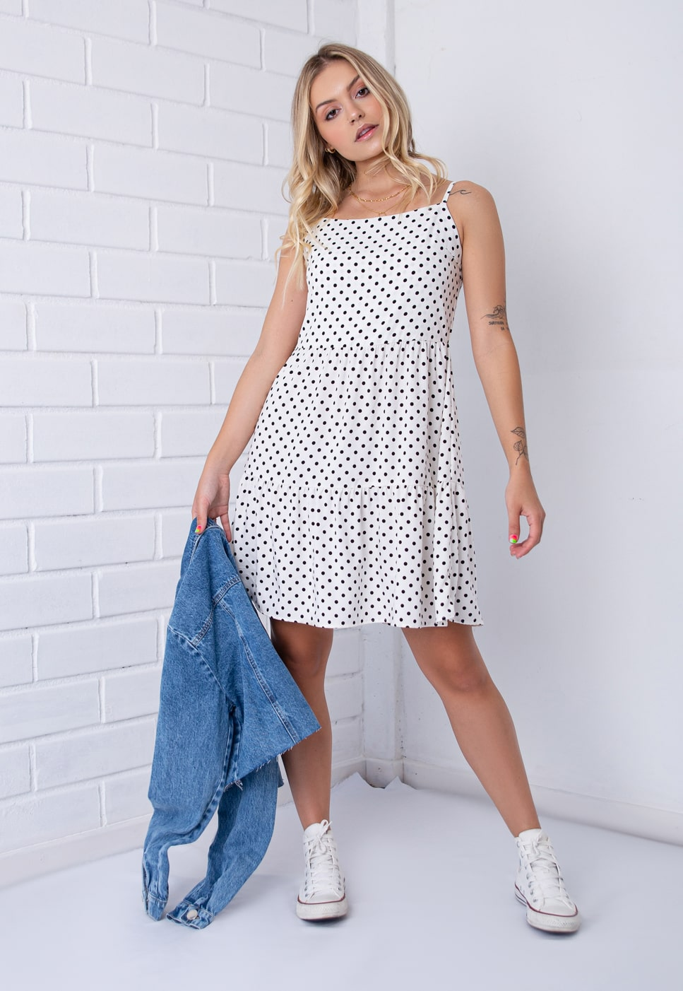 Vestido Marias De Poá Pkd Off White