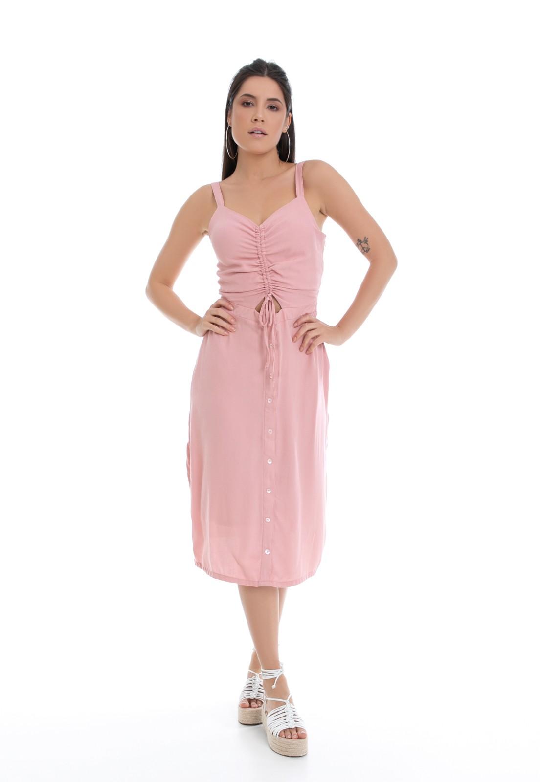Vestido Midi Pkd Rosa