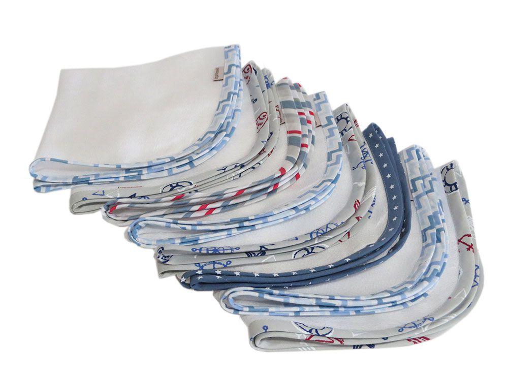 Fralda de ombro e boca 12 peças