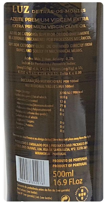 Azeite Luz Preto - 500 ml