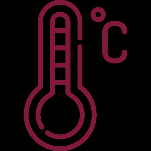 Temperatura de serviço: 7 a 10 °C