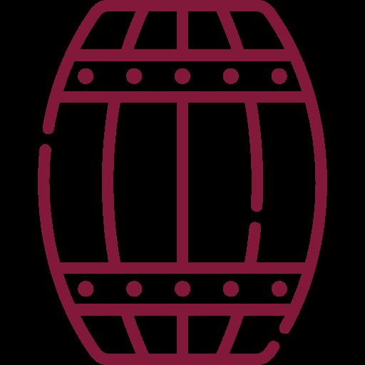 Amadurecimento: Metade do vinho estagiou em barricas de carvalho francês e metade em barricas de carvalho americano