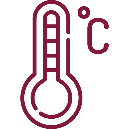 Temperatura de serviço: 16 A 17 Cº