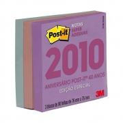 Bloco Post-It® 3M Especial 40 anos 76x76 mm c/ 270 Fls
