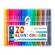 Caneta STAEDTLER Triplus Broadliner c/ 20 Brilliant Colours