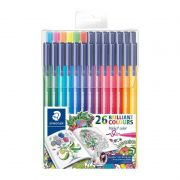 Caneta STAEDTLER  Triplus Fiber-Tip c/ 26 Color Pens for Adults