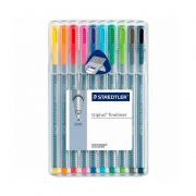 Caneta STAEDTLER Triplus Fineliner 334 c/ 10  Brilliant Colours
