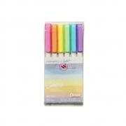 Canetinha Colore NEWPEN by Uatt? - Estojo c/ 6 Cores Pastel