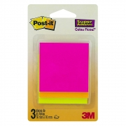 Cascata Post-It® 3M 76x76 mm 3 Blocos c/ 45 Fls cada