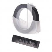 Fita Vinílica Preto DYMO Para Rotulador Manual (9mm x 3mm)