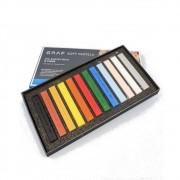 Giz CIS Graf Soft Pastel Seco c/ 12 Cores