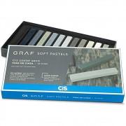 Giz CIS Graf Soft Pastel Seco c/ 12 Tons de Cinza