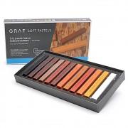 Giz CIS Graf Soft Pastel Seco c/ 12 Tons de Marrom