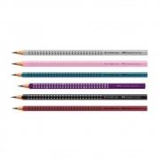 Kit c/ 6 Lápis Preto FABER-CASTELL Eco Grip Nº 2 = B