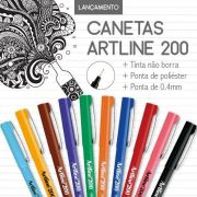 Kit Caneta ARTLINE EK-200 Ponta 0.4 mm c/ 10 cores
