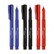 Kit Caneta FABER-CASTELL Fine Pen c/ 3 Unids