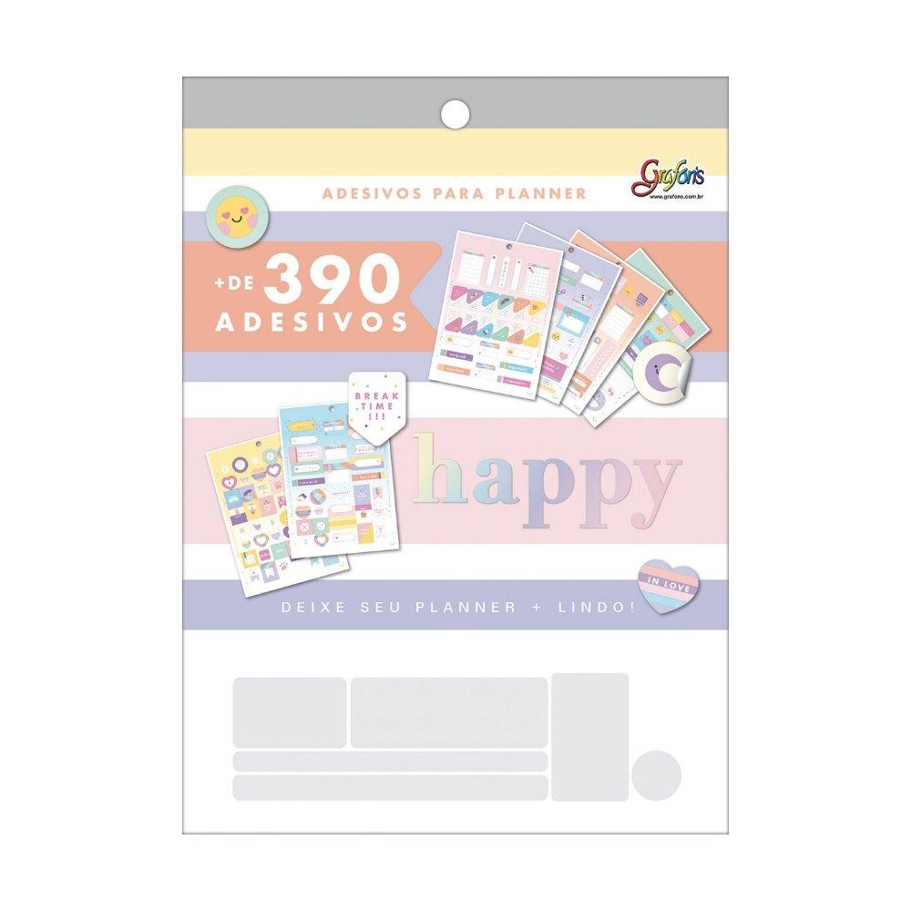 Adesivo TILIBRA Happy p/ Planner c/ 390