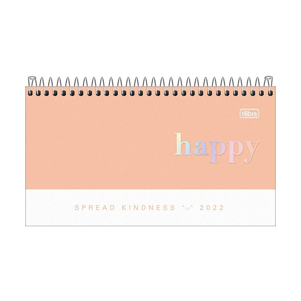 Agenda de Bolso 2022 TILIBRA Semanal Happy 16,7 x 8,9 cm