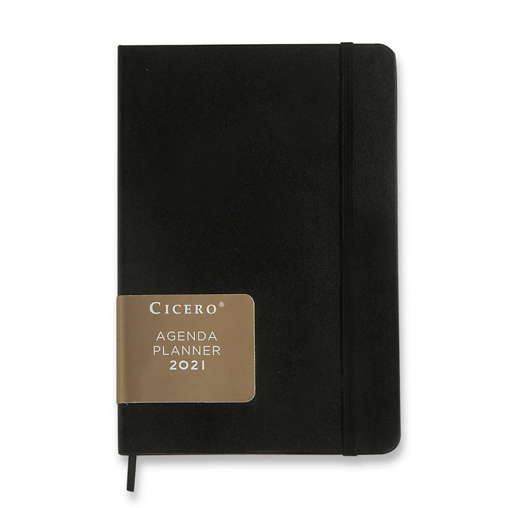 Agenda Planner 2021 CICERO Clássica - Preto - Semanal Planejamento 17x24