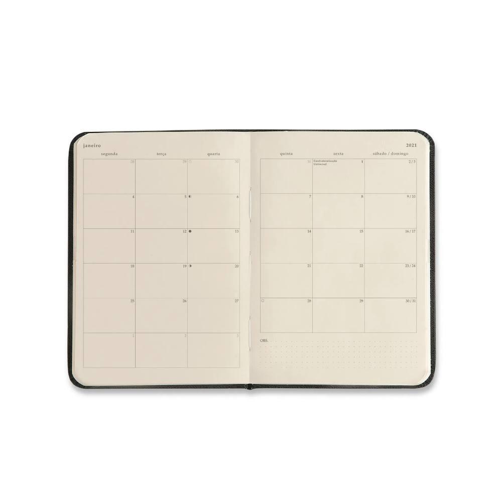Agenda Planner 2021 CICERO Pólen 14x21 - Amarelo/Semanal Anotações