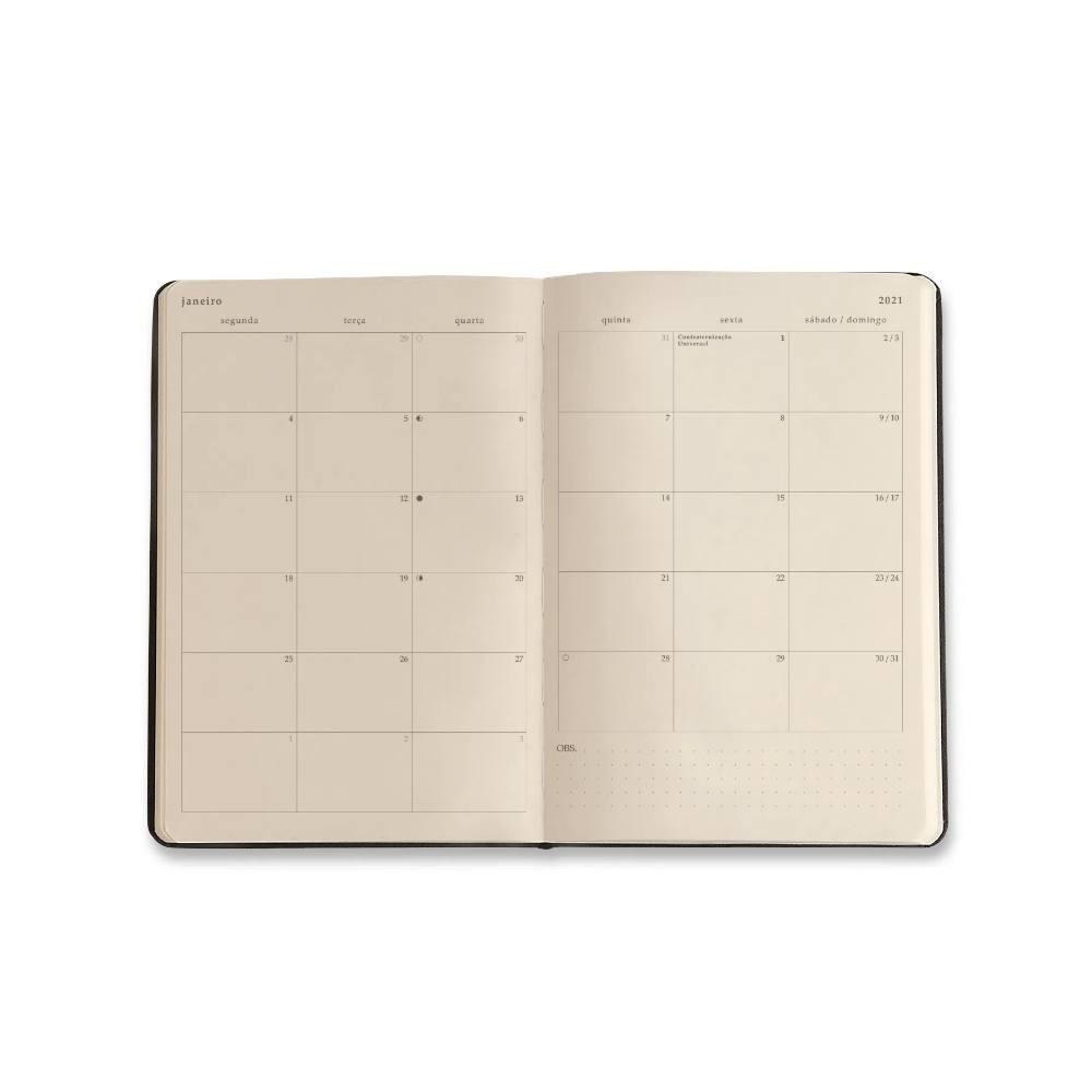 Agenda Planner 2021 CICERO Smileys 14x21 - Preta Hot/Diária