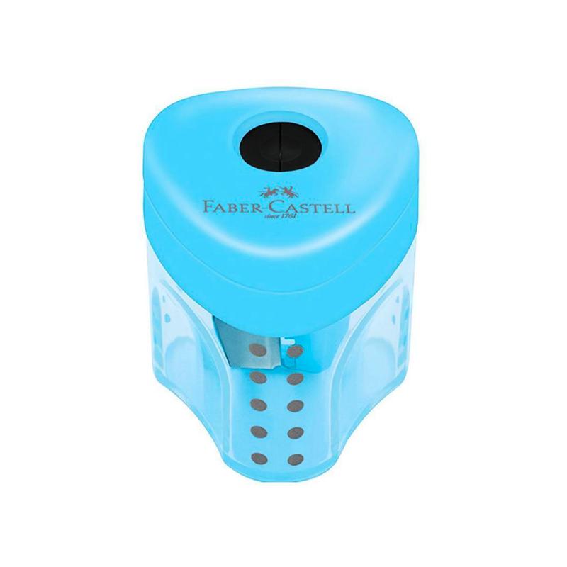 Apontador FABER-CASTELL c/ Depósito Mini Grip