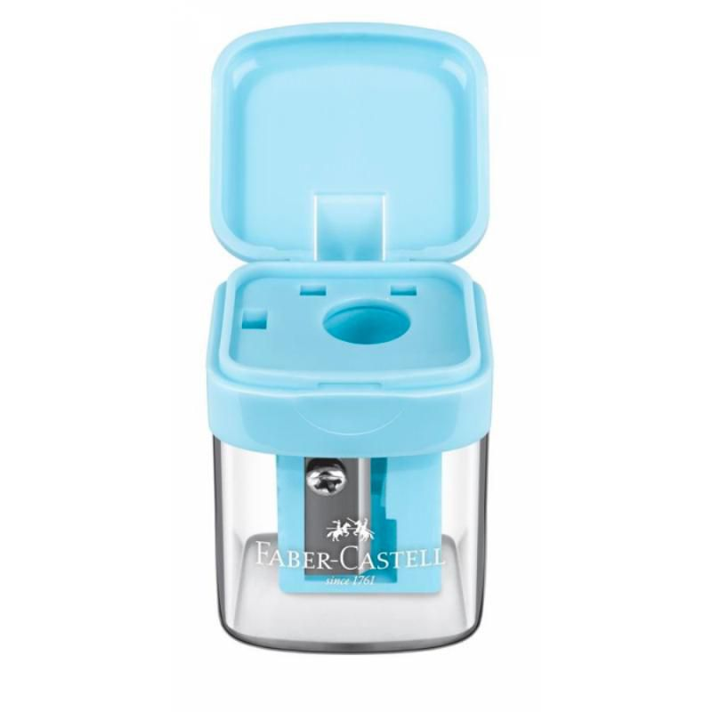 Apontador FABER-CASTELL c/ Depósito Minibox Pastel