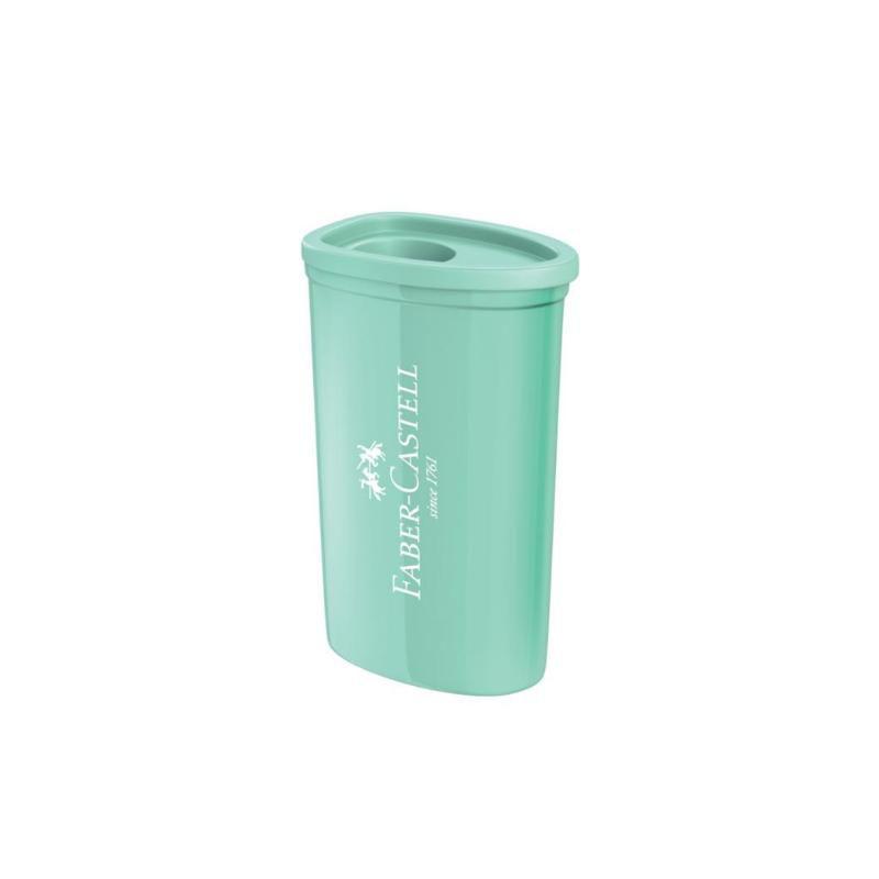Apontador FABER-CASTELL c/ Depósito Triangular Pastel